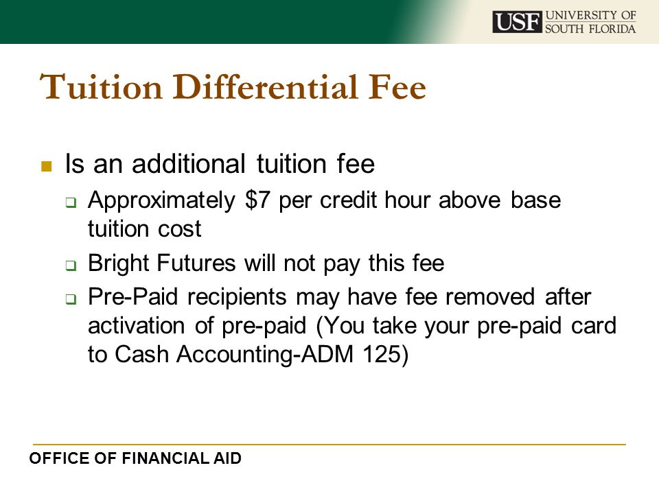 Tuition Differential Fee