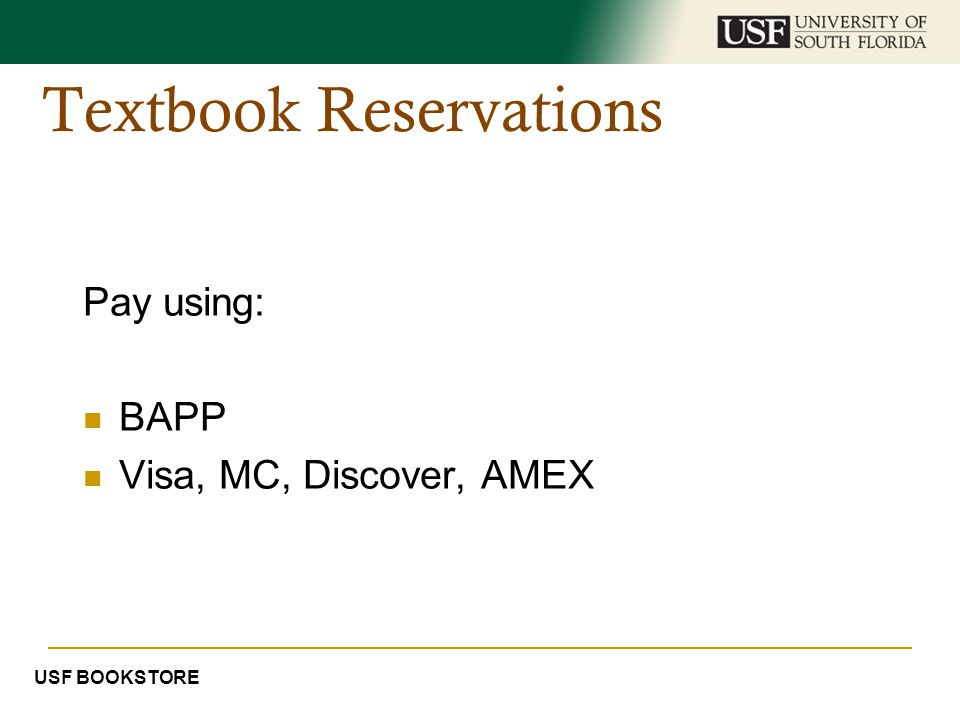 Textbook Reservations