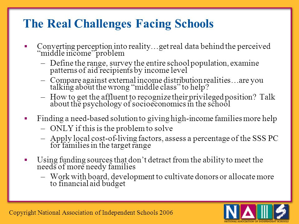 The Real Challenges Facing Schools