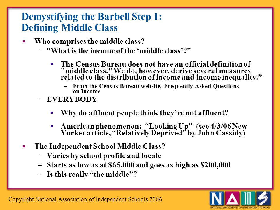 Demystifying the Barbell Step 1: Defining Middle Class