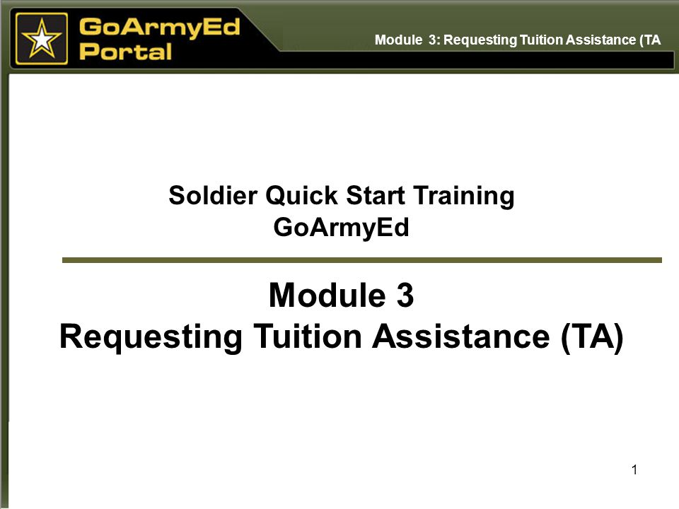 Outstanding Soldier Quick Start Training Requesting Tuition Assistance Ta Home Remodeling Inspirations Genioncuboardxyz