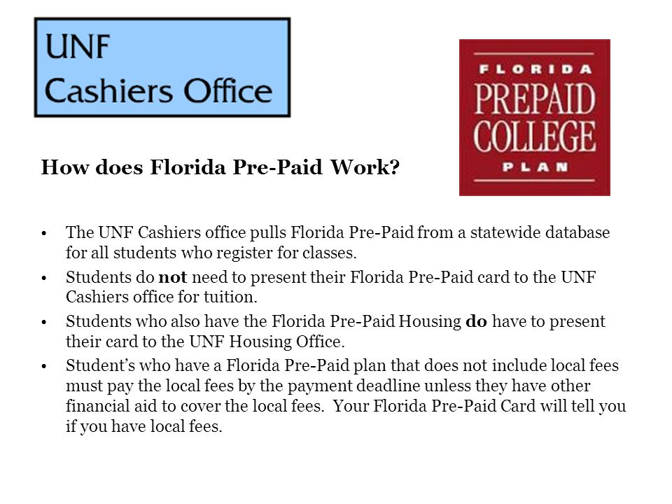 How does Florida Pre-Paid Work