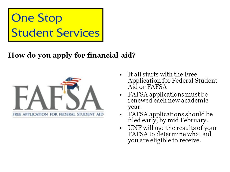 How do you apply for financial aid