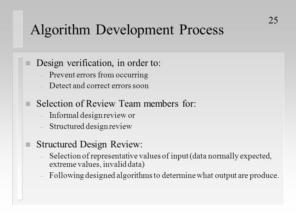 Algorithm Development Process