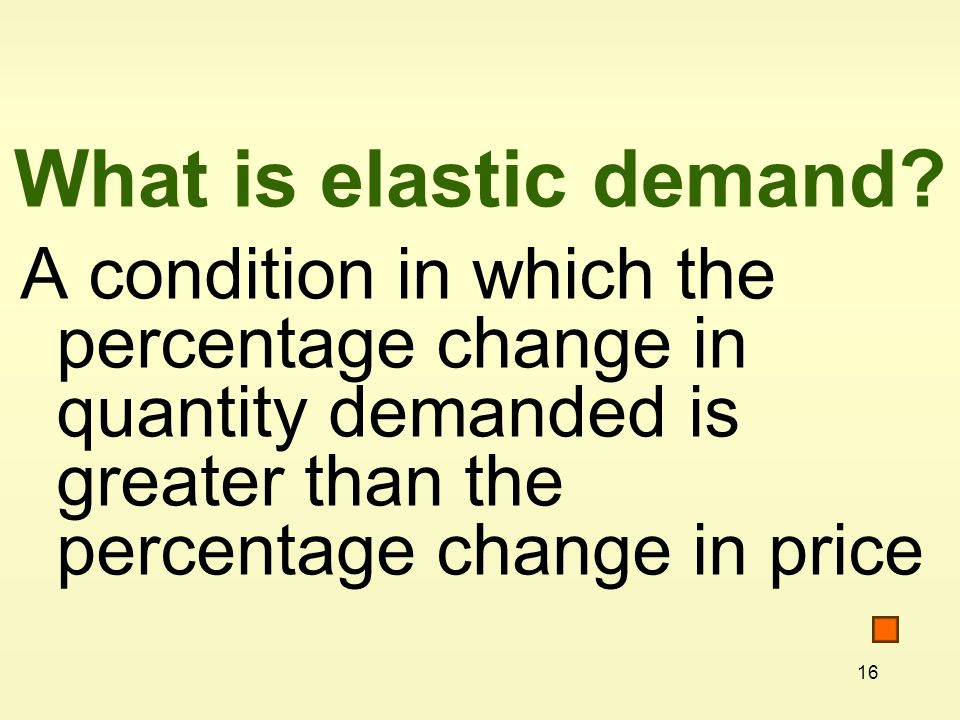 What is elastic demand.