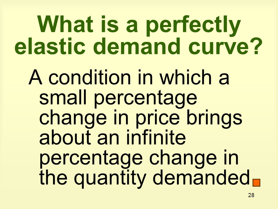 What is a perfectly elastic demand curve