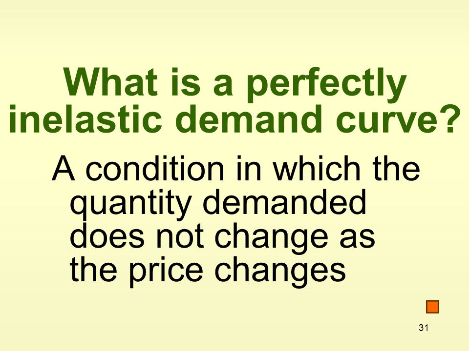 What is a perfectly inelastic demand curve