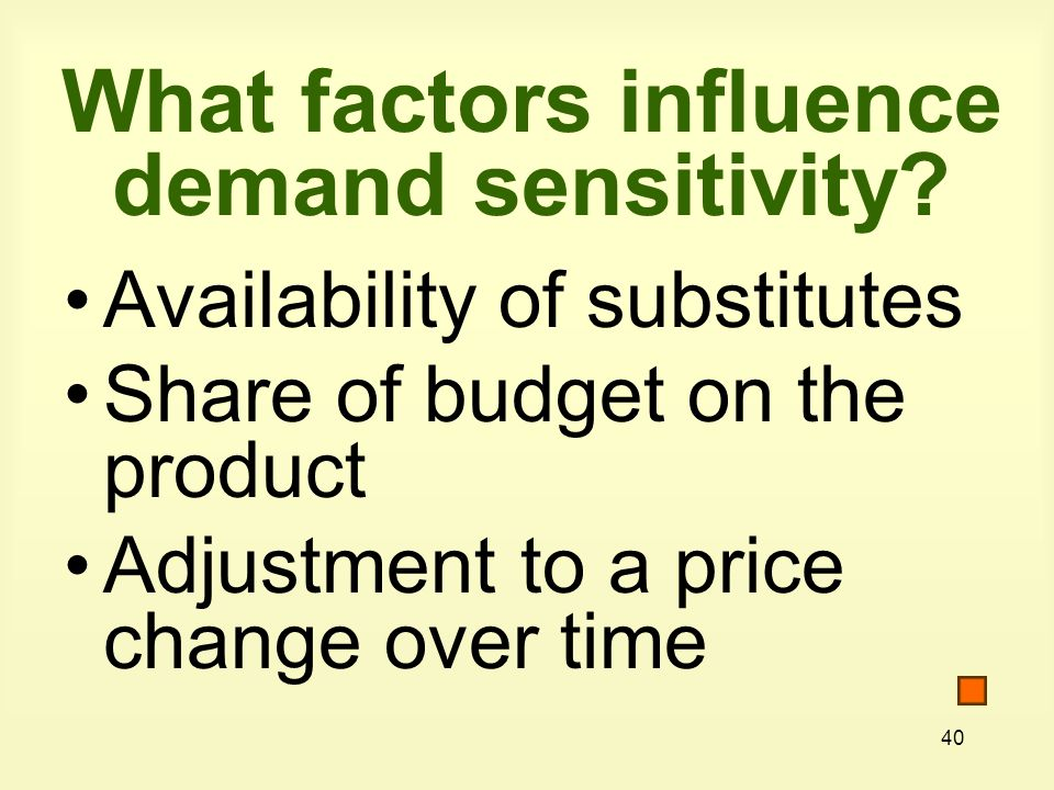 What factors influence demand sensitivity
