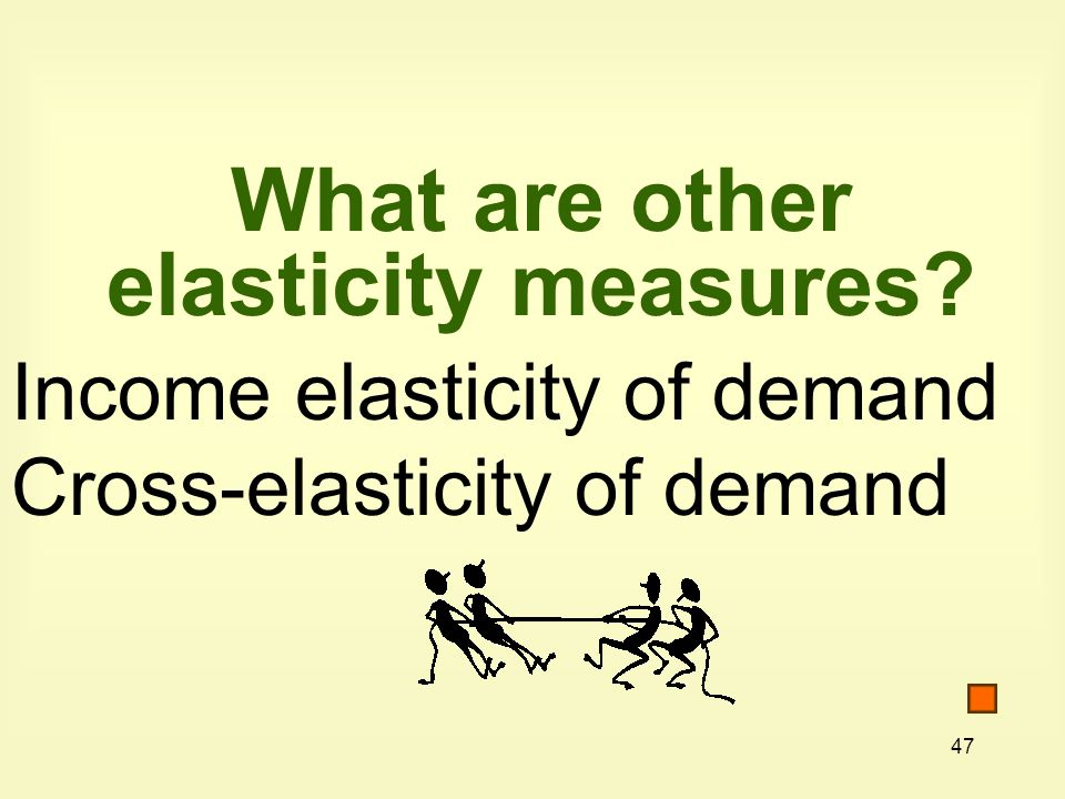 What are other elasticity measures