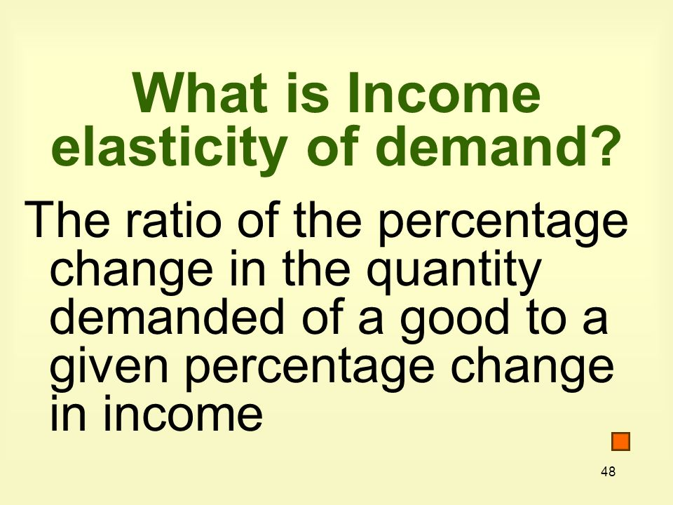 What is Income elasticity of demand