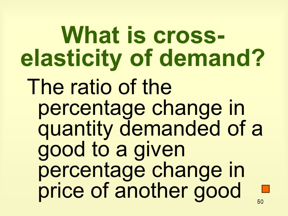 What is cross-elasticity of demand