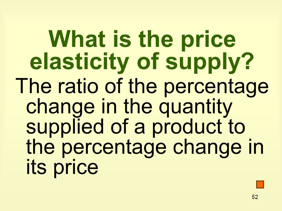 What is the price elasticity of supply