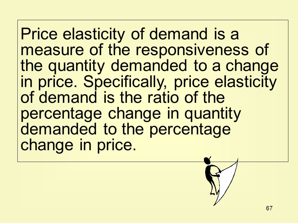 Price elasticity of demand is a measure of the responsiveness of the quantity demanded to a change in price.
