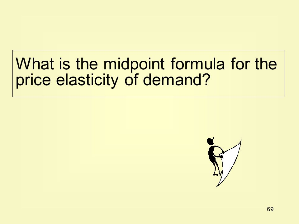 What is the midpoint formula for the price elasticity of demand