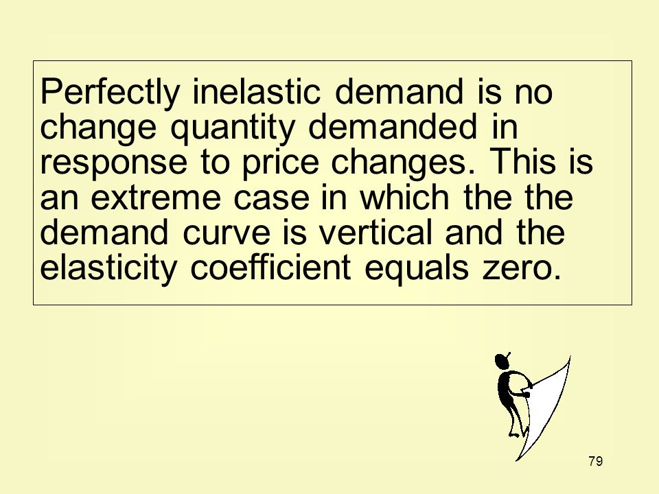 Perfectly inelastic demand is no change quantity demanded in response to price changes.