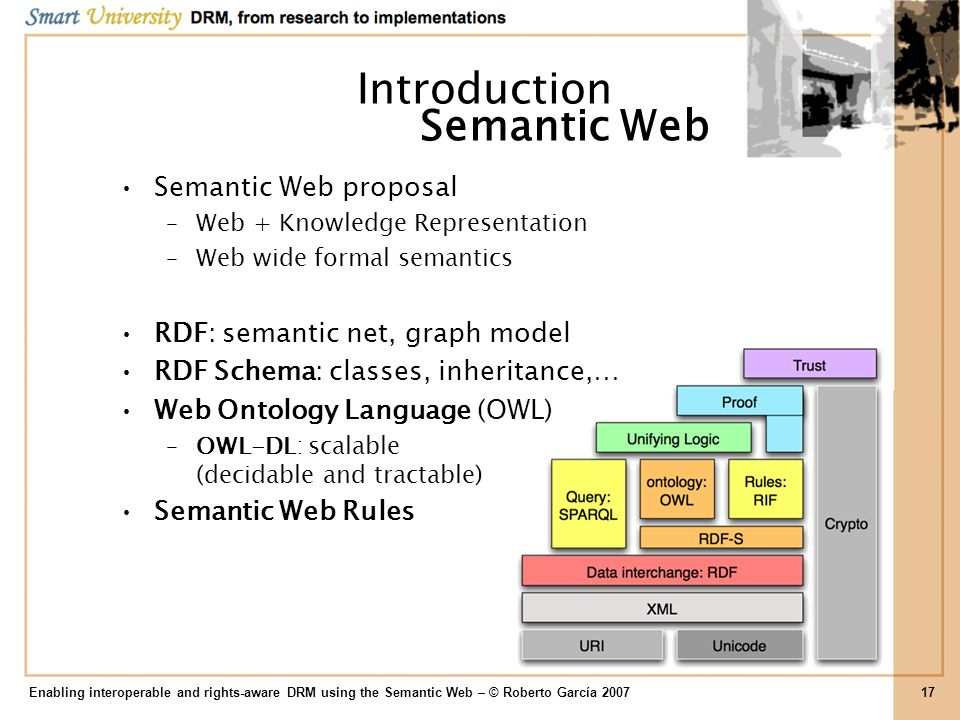 Introduction Semantic Web Semantic Web proposal