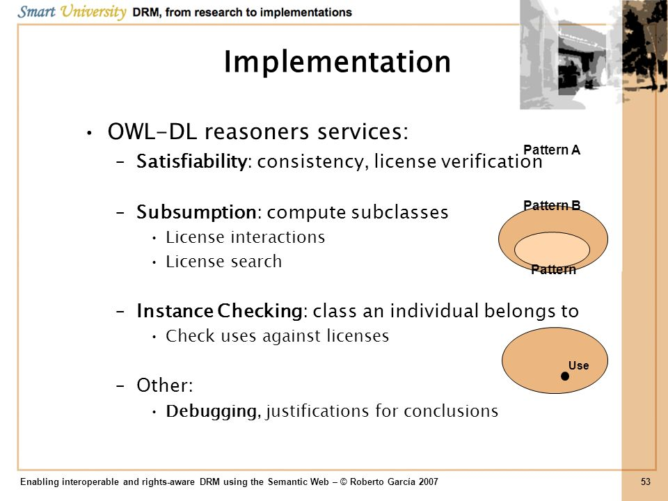 Implementation OWL-DL reasoners services: