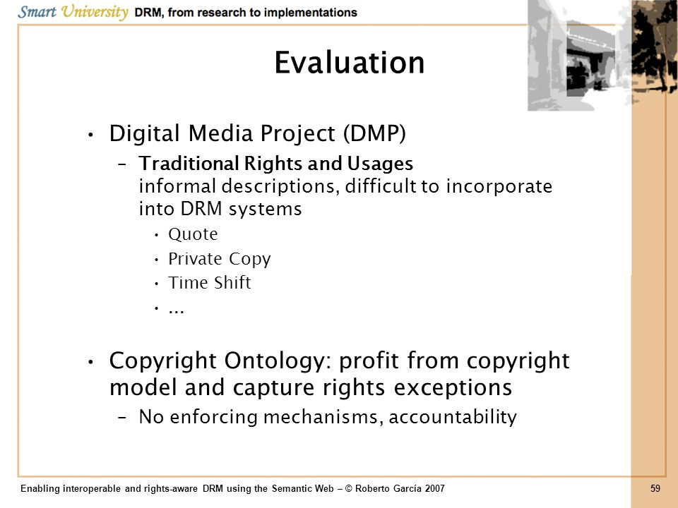 Evaluation Digital Media Project (DMP)