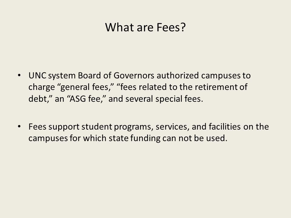 What are Fees
