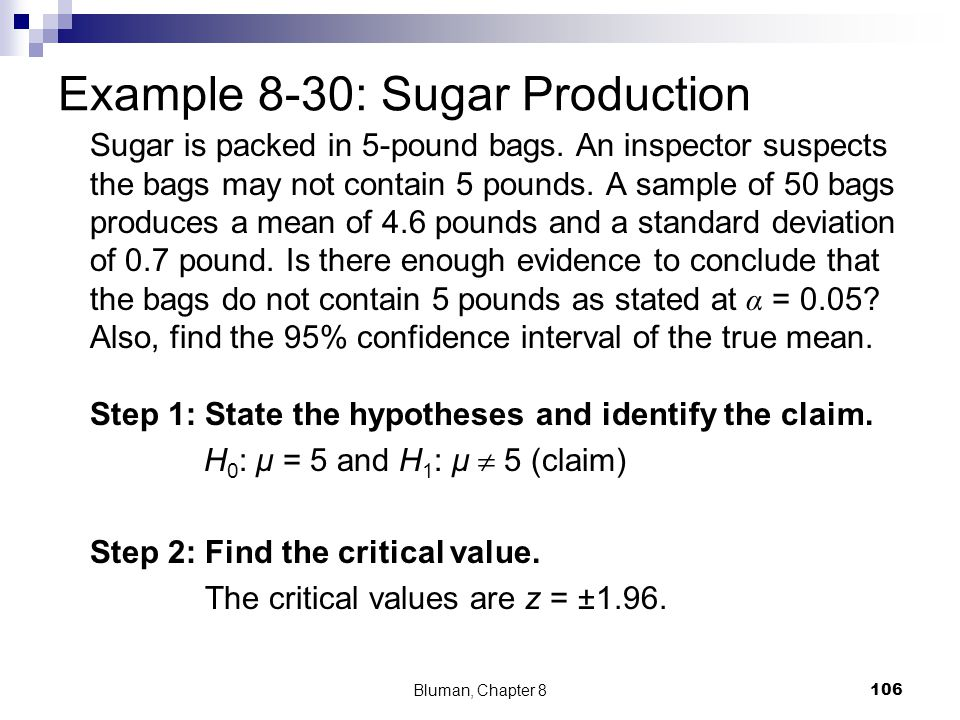 Example 8-30: Sugar Production