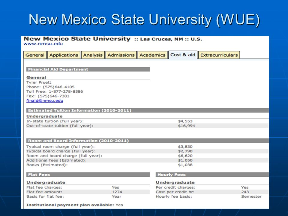 New Mexico State University (WUE)