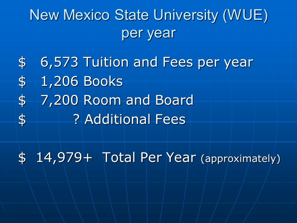 New Mexico State University (WUE) per year