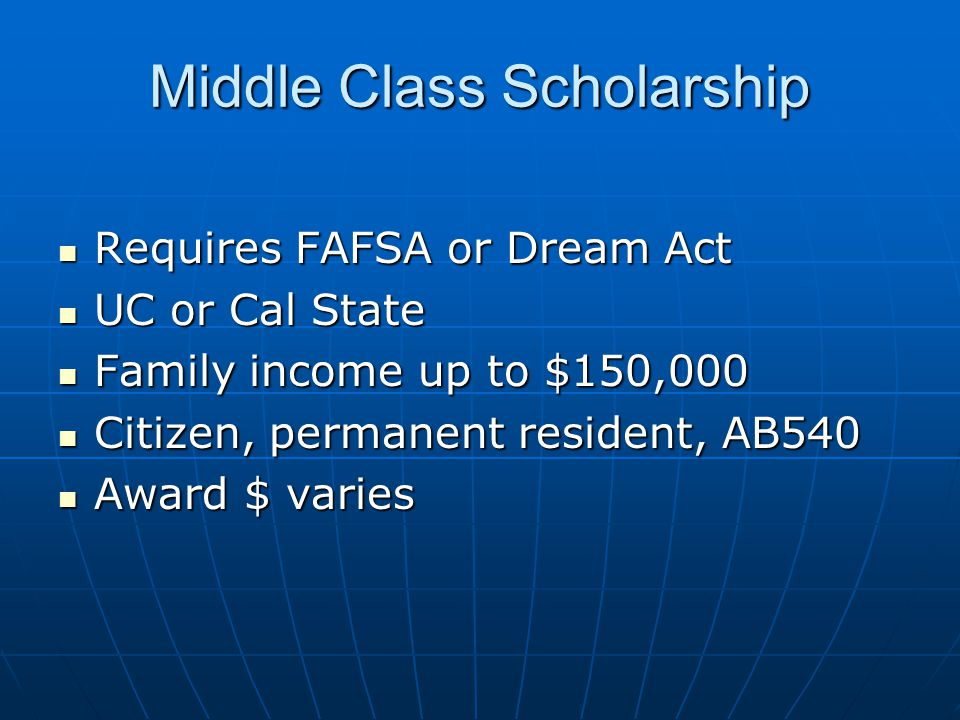 Middle Class Scholarship