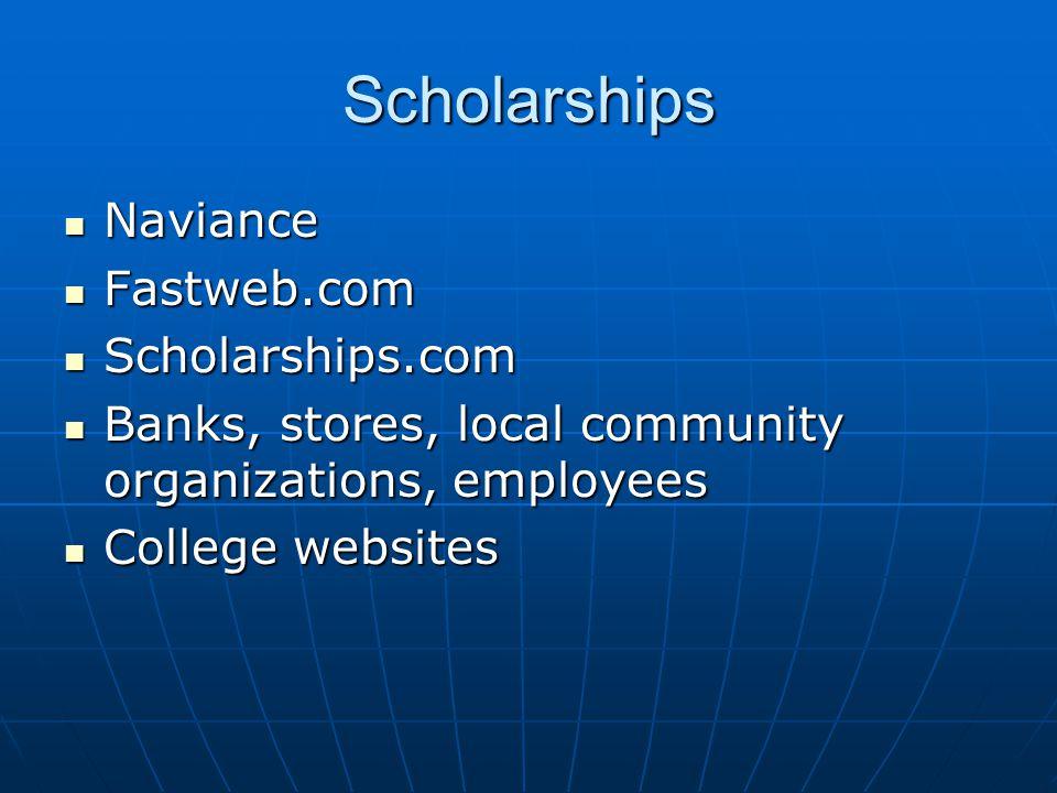 Scholarships Naviance Fastweb.com Scholarships.com