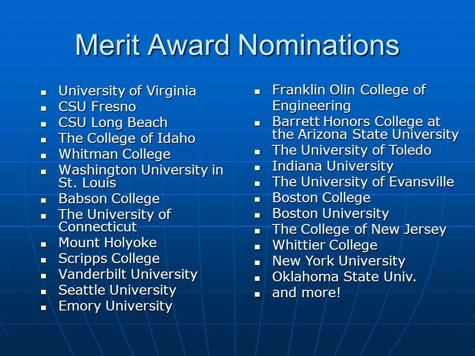 Merit Award Nominations