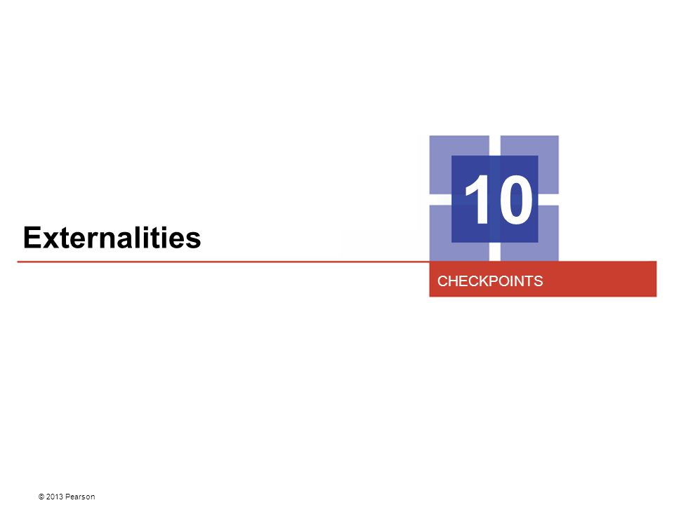 10 Externalities CHECKPOINTS 2
