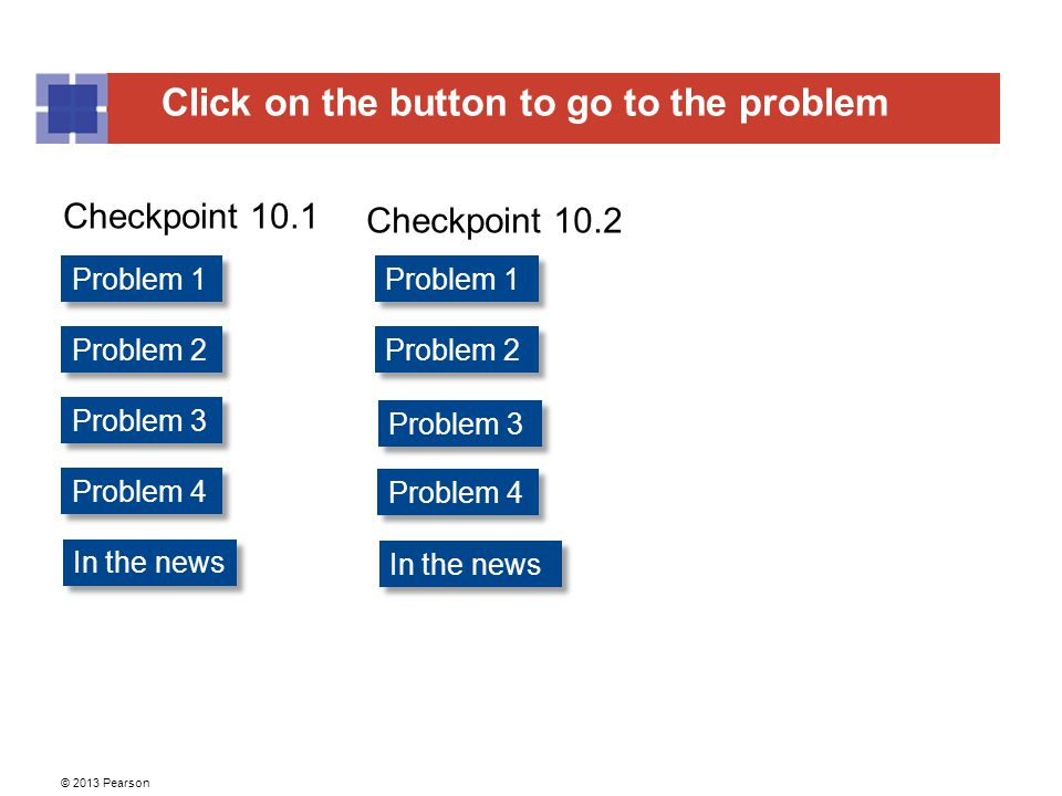 Checkpoint 10.1 Checkpoint 10.2 Problem 1 Problem 1 Problem 2