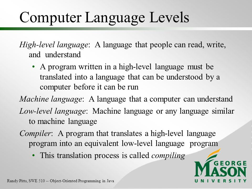 Computer Language Levels