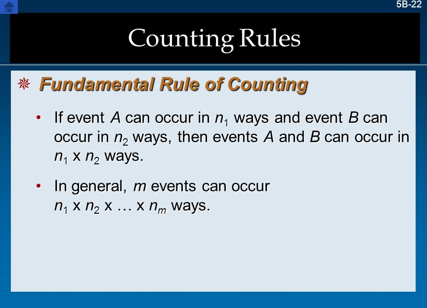 Counting Rules Fundamental Rule of Counting