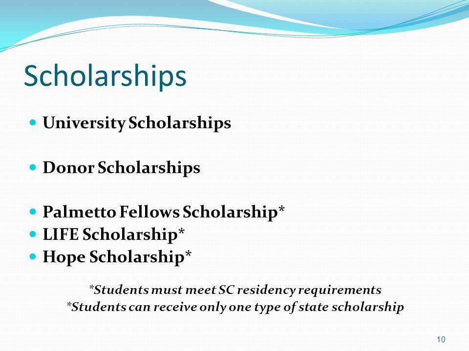 Scholarships University Scholarships Donor Scholarships