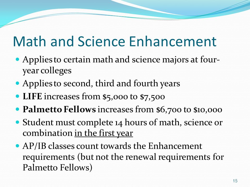 Math and Science Enhancement