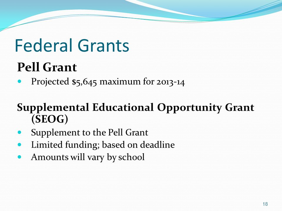 Federal Grants Pell Grant