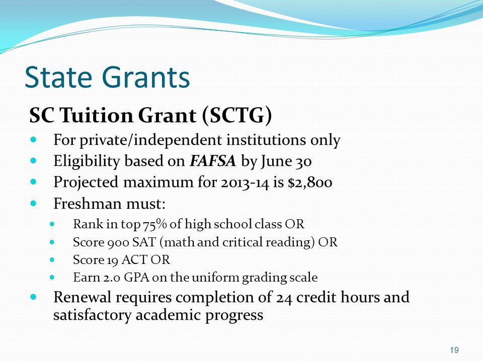 State Grants SC Tuition Grant (SCTG)