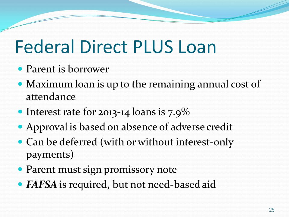 Federal Direct PLUS Loan