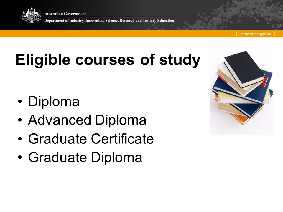 Eligible courses of study