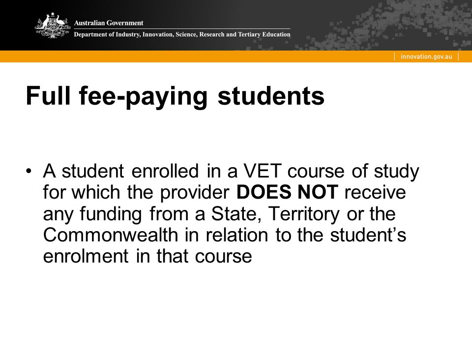 Full fee-paying students