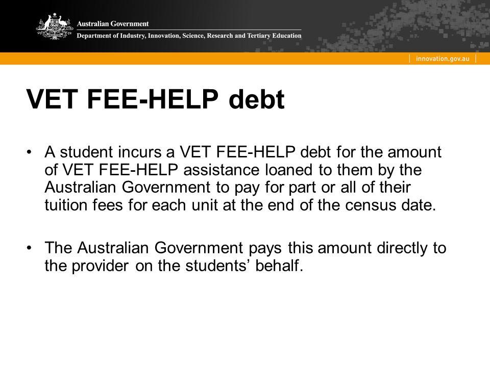 VET FEE-HELP debt