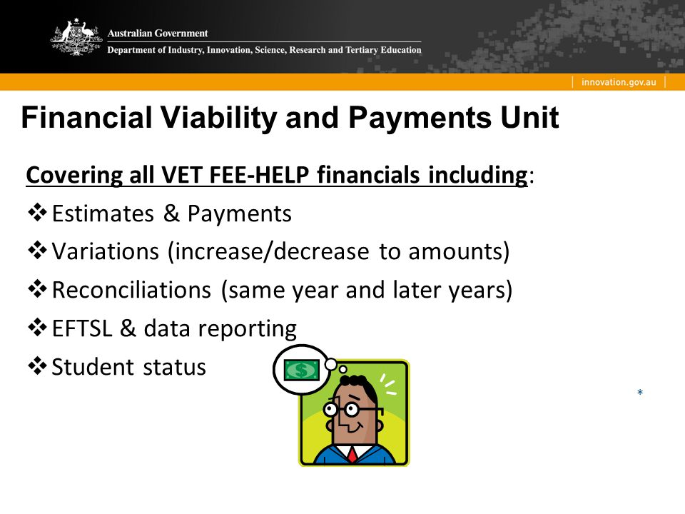 Financial Viability and Payments Unit