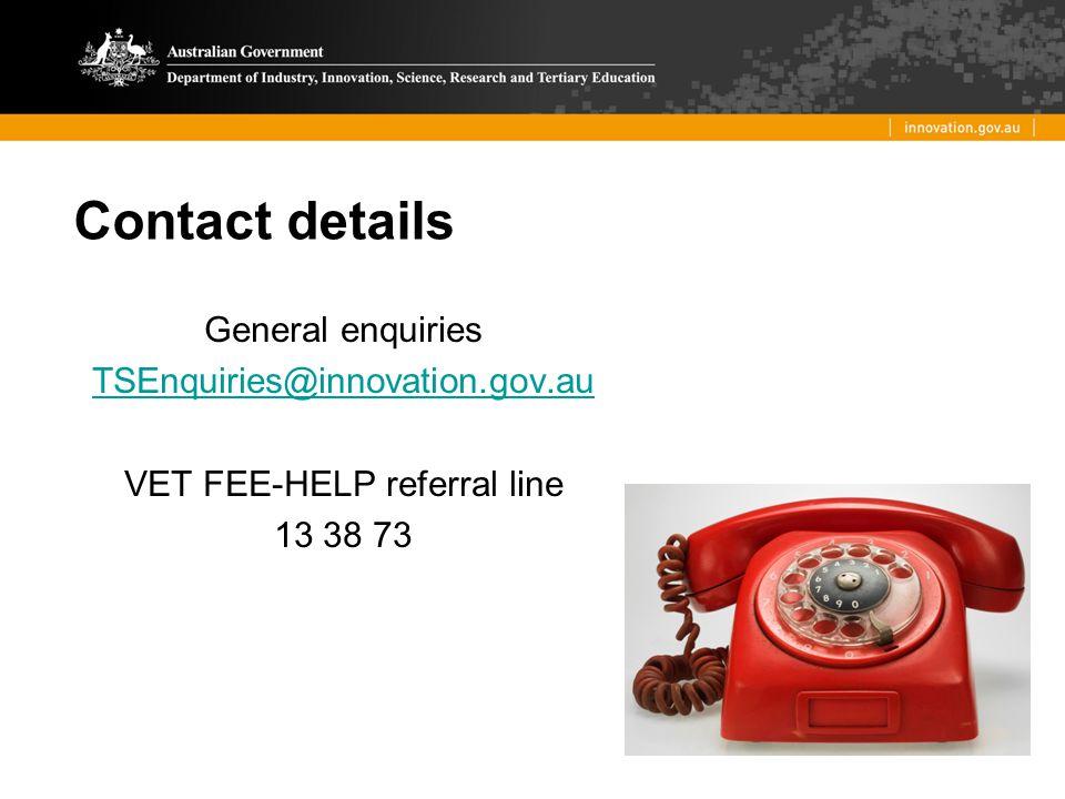 VET FEE-HELP referral line