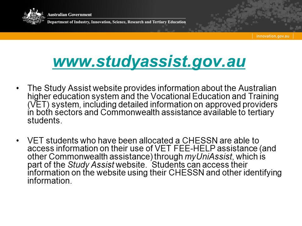 www.studyassist.gov.au