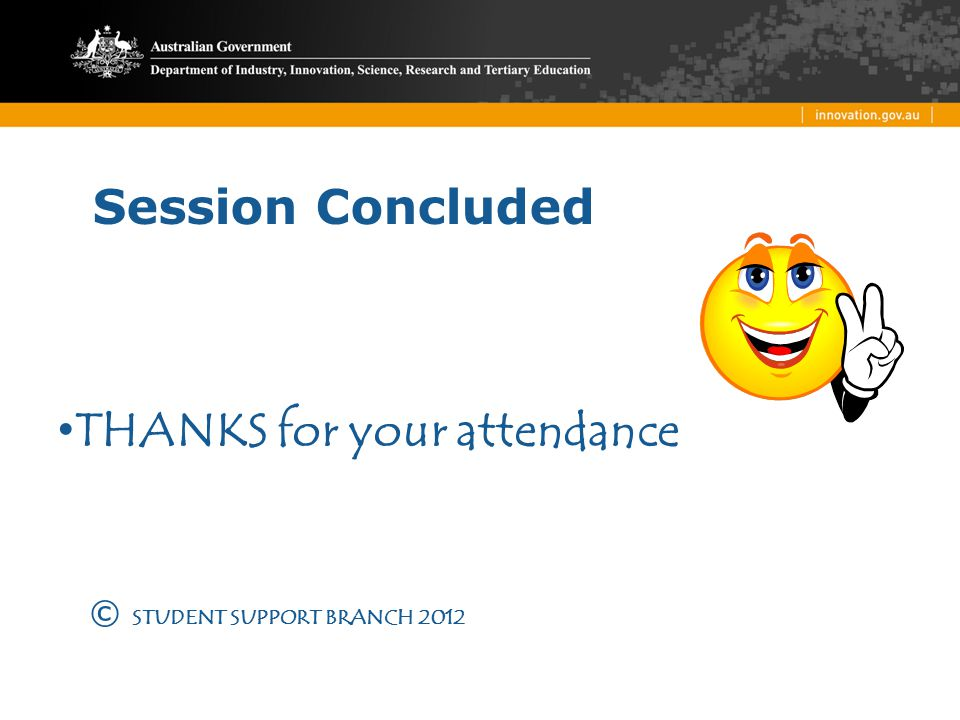 THANKS for your attendance