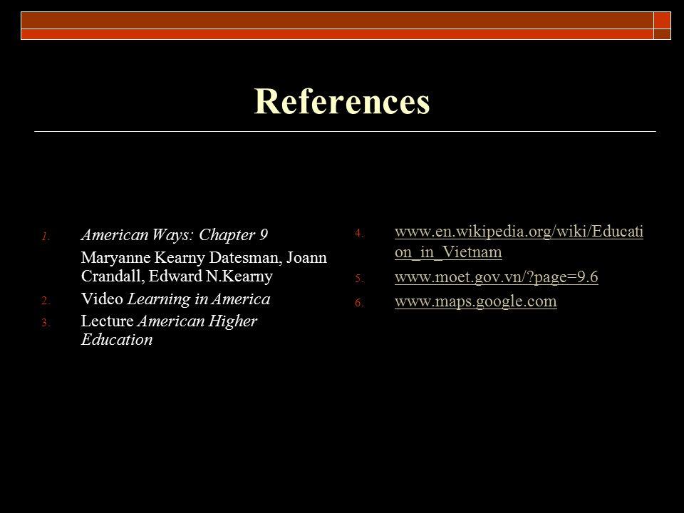 References www.en.wikipedia.org/wiki/Education_in_Vietnam