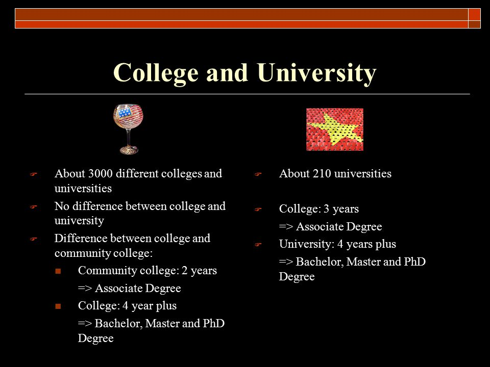College and University