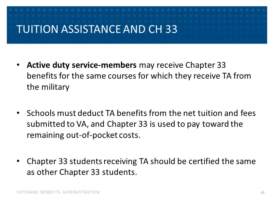Tuition Assistance Top Up Active Duty ( Ch30) (TATU)