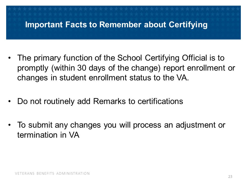 This is what the termination will look like on VA-ONCE, Certs Tab.