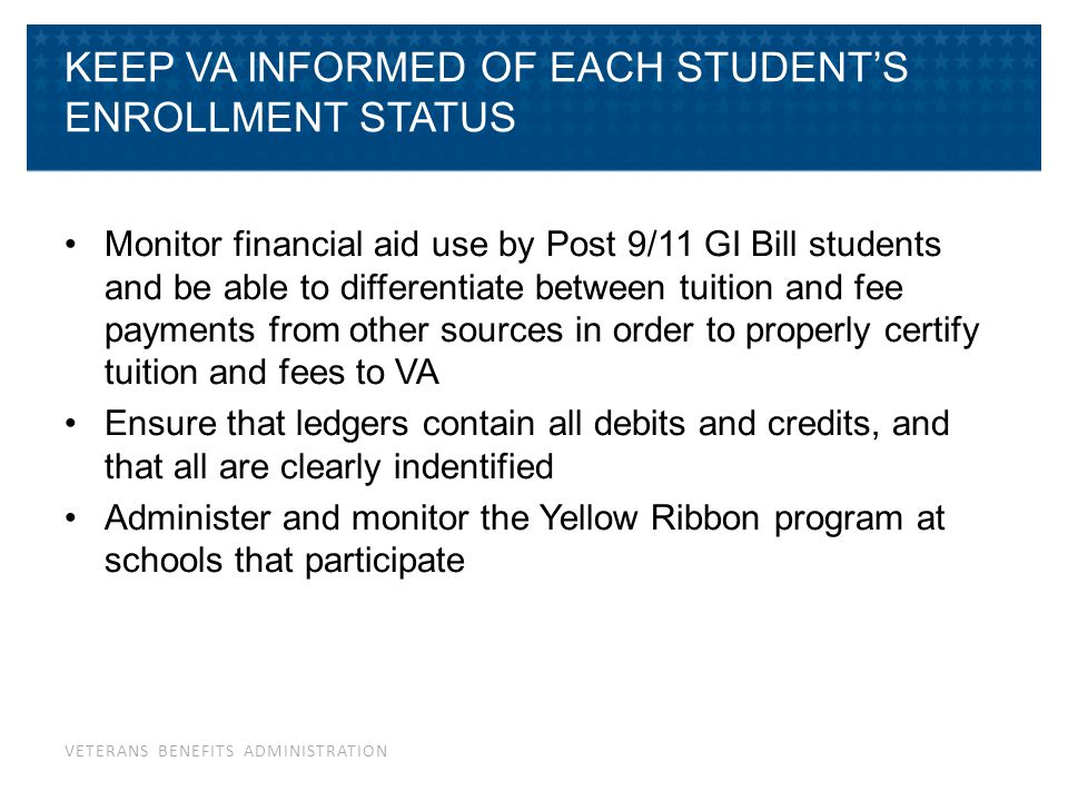 Keep SAA & VA Advised of School Changes